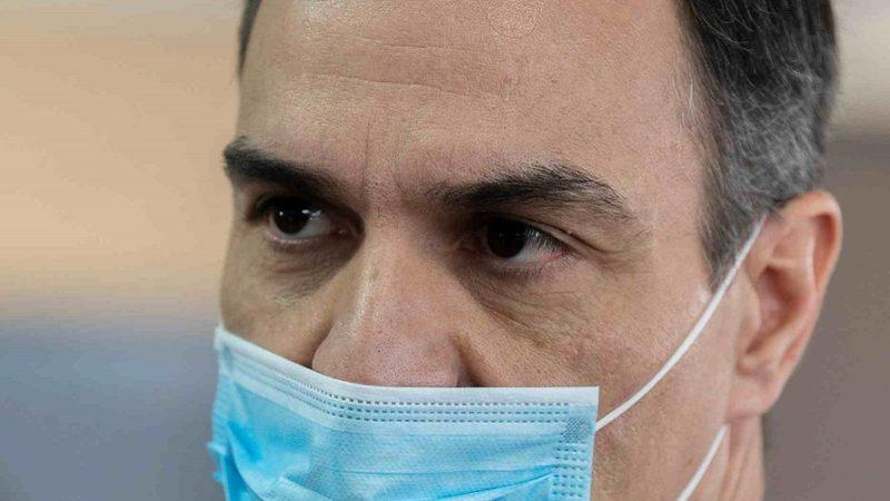 Pedro Sanchez Mascarilla