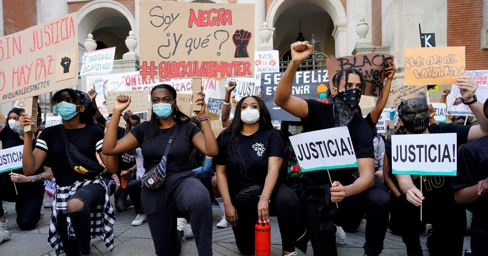 España se une a las protestas mundiales contra el racismo